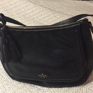 Kate spade used black soft leather shoulder bag